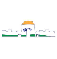 isolated cityscape of new delhi vector image