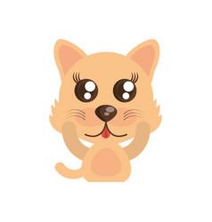 Kawaii wolf animal toy vector