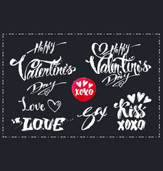 lettering set for valentines day design vector image