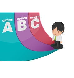 Man Determine Way Choice Presentation vector