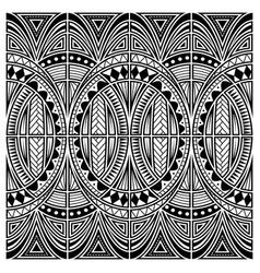 maori style tattoo ornament vector image