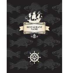 menu with a pirate vector image