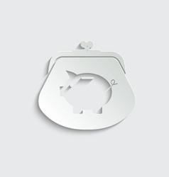 Paper money icon piggy bank - saving money icon vector