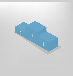Pedestal for rewarding an isometric vector