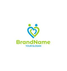 People love care logo design vector
