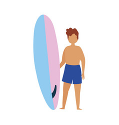 People summer related design man with swimsuit vector
