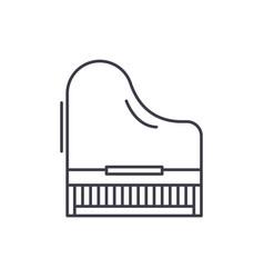 piano line icon concept piano linear vector image