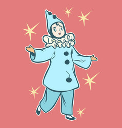 pierrot stock character of pantomime and commedia vector image
