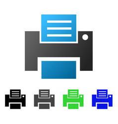 print file flat gradient icon vector image