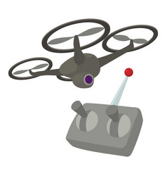 Rc helicopter icon cartoon style vector