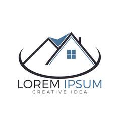 real estate logo design creative house symbol vector image