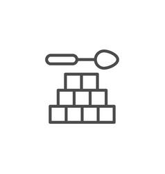 Refined sugar line outline icon vector