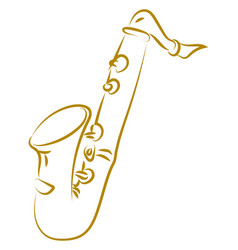 saxophone drawing on white background vector image