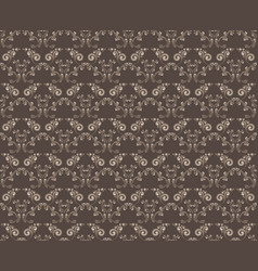 Seamless floral background in vintage style vector