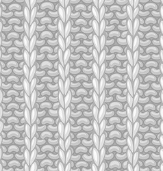 seamless pattern in knitting style vector image
