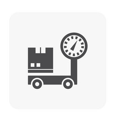 shipping icon black vector image