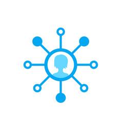 Stockholder icon on white vector