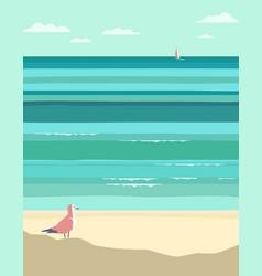 Summer seaside landscape vector