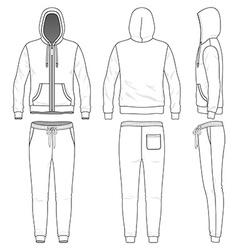 Sweat suit vector