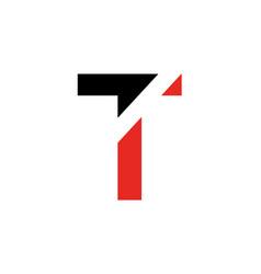 t letter logo t letter emblem vector image