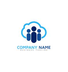 Team cloud logo icon design vector