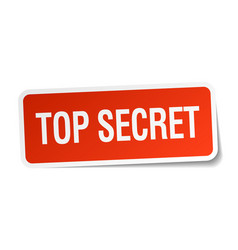 Top secret red square sticker isolated on white vector