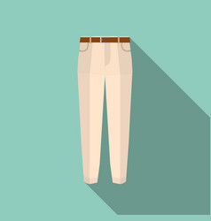 trousers icon on green modern pants vector image