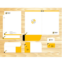 visual brand corporate business identity vector image