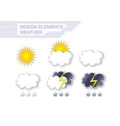 Weather Design Elements vector