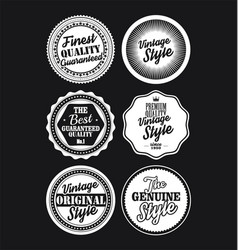 White and black vintage labels collection 4 vector