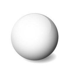 White glossy sphere ball or orb 3d object vector