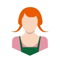 Woman flat icon vector