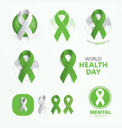 world health day symbols modern abstract vector image