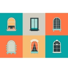 flat set of icons for windows with pane vector image vector image