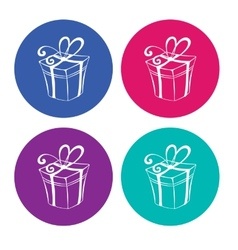 Gift boxes on light background vector image