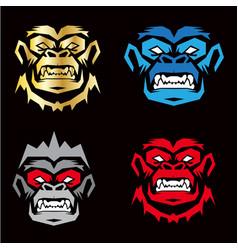 gorilla sport logo vector image