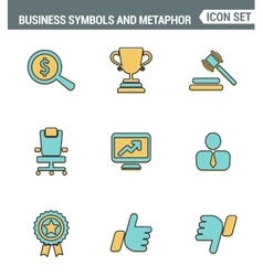 Icons line set premium quality of various business vector image vector image