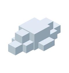 Module brick icon lego piece of puzzle icon vector