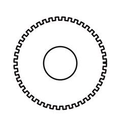 Sketch silhouette cog wheel pinion icon vector