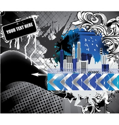 urban background with city vector image