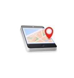 World map gps navigation mobile phone vector