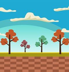 Cartoon landscape background vector image vector image
