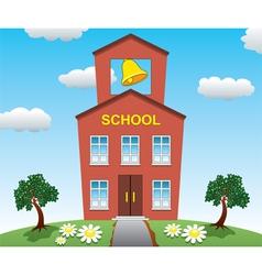 school house vector image
