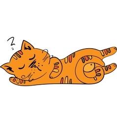 sleeping cute kitten vector image