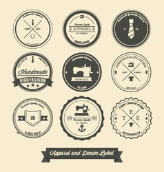 Apparel and denim label vector image vector image
