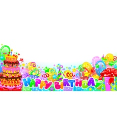 Birthday horizontal composition vector image vector image