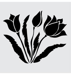 decorative tulips vector image vector image