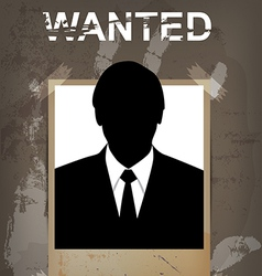 grunge wanted poster vector image