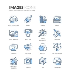 Line Images Icons vector image vector image