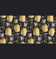 pineapple luxury gold vector image vector image